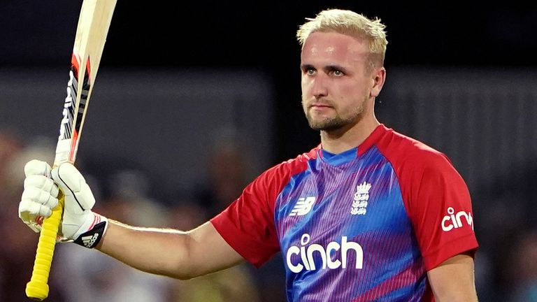 Liam Livingstone smashed England's fastest-ever international hundred, from just 42 balls, in the first T20 against Pakistan at Trent Bridge