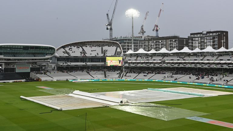 The Hundred men's match between London Spirit and Oval Invincibles at Lord's was abandoned due to rain