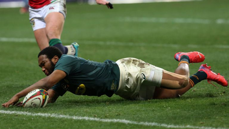 Lukhanyo Am scored the second of two South Africa tries as the Springboks levelled their series vs the Lions