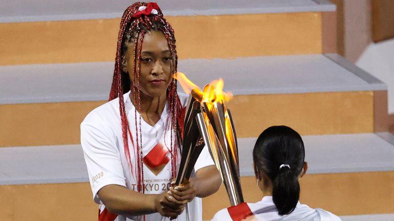 Naomi Osaka a été la dernière relayeuse de la flamme olympique et a allumé la vasque olympique
