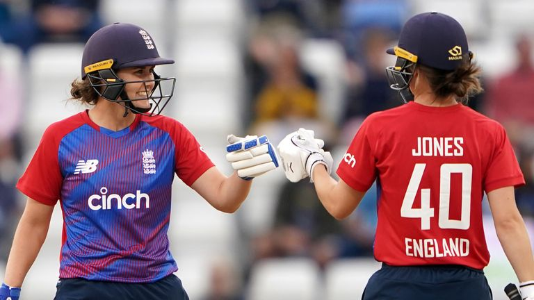 Sciver and Amy Jones put England out of sight with a dominant 78-run stand for the fourth wicket