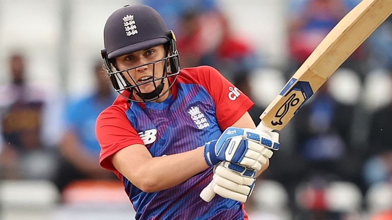 Natalie Sciver struck eight fours and one six, scoring at a strike-rate of 203.70