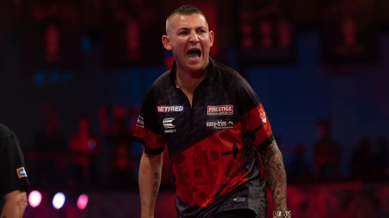 Nathan Aspinall had too much for first round opponent Mervyn King. (Image: Lawrence Lustig)