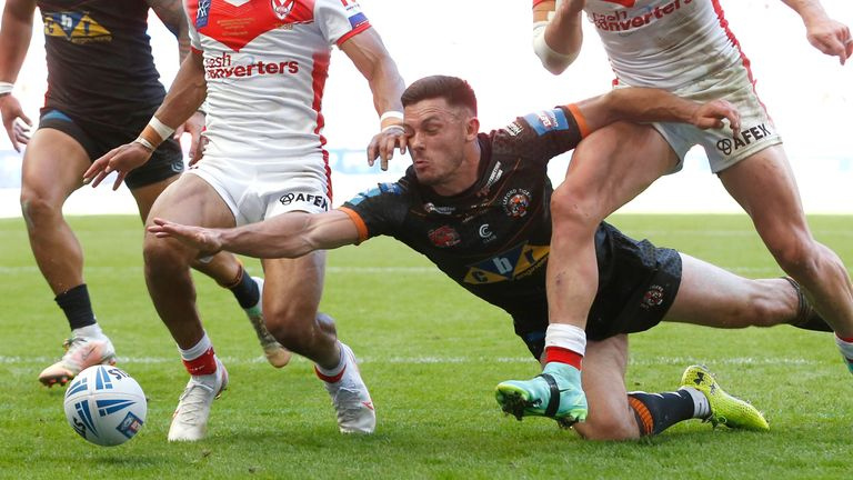 Castleford's Niall Evalds has joined the list of players who won the Lance Todd Trophy despite being part of the losing squad