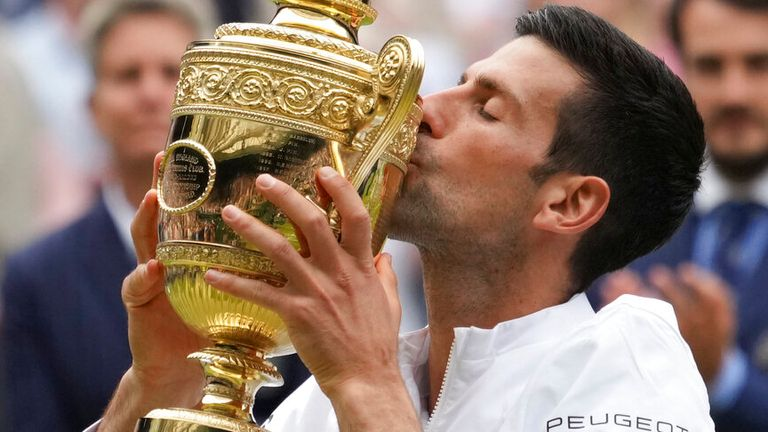 Novak Djokovic joined Roger Federer and Rafael Nadal as a 20-time Grand Slam champion after claiming his sixth Wimbledon title