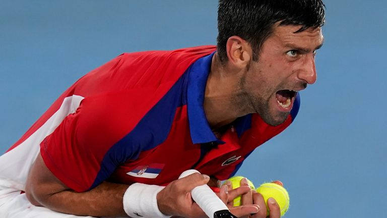 La apuesta de Novak Djokovic por una medalla de oro en individuales cayó en la etapa semifinal