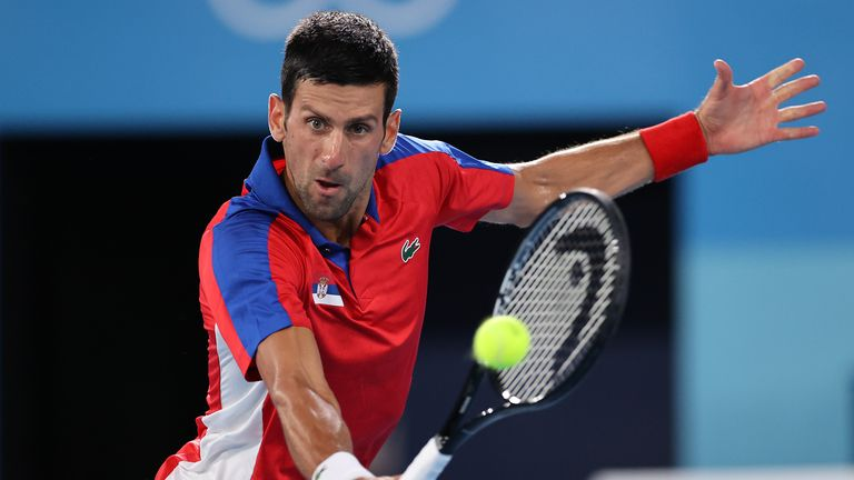 Novak Djokovic couldn't be stopped as he progressed to the final four