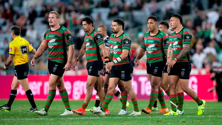 The Rabbitohs were to play against the Dragons on Saturday