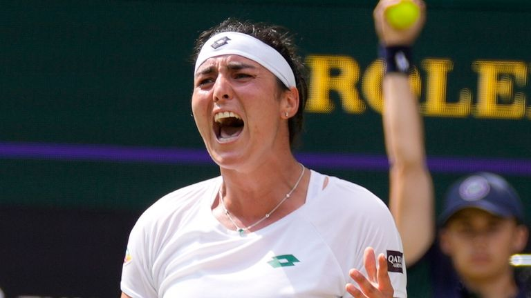 Tunisia's Ons Jabeur has won the hearts of the Wimbledon crowd. (AP Photo/Kirsty Wigglesworth)