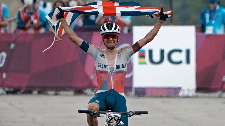 After winning Team GB's third gold medal of the Tokyo Olympics in the men's cross-country mountain biking, 21-year-old cyclist Tom Pidcock admitted his achievement was taking time to hit home