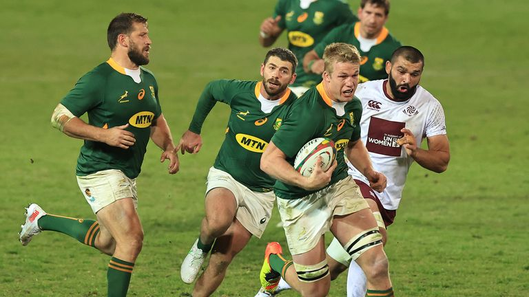 Pieter-Steph du Toit on the charge for South Africa