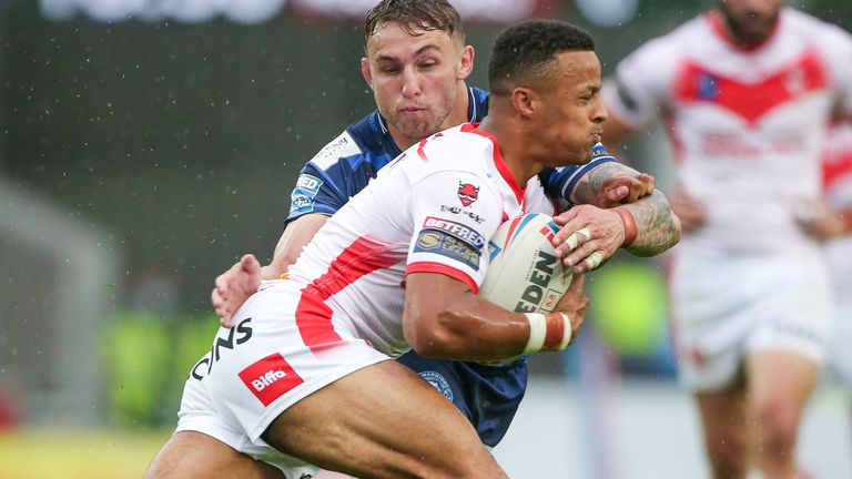 Regan Grace got the first try of the match for St Helens