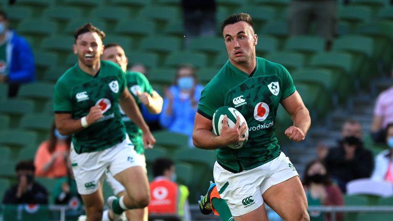Ronan Kelleher scored four tries for Ireland