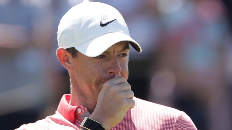 Rory McIlroy failed to register a birdie on the back nine during his third round