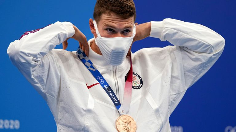 Murphy of the USA also picked up the bronze medal in the men's 100m backstroke final earlier this week