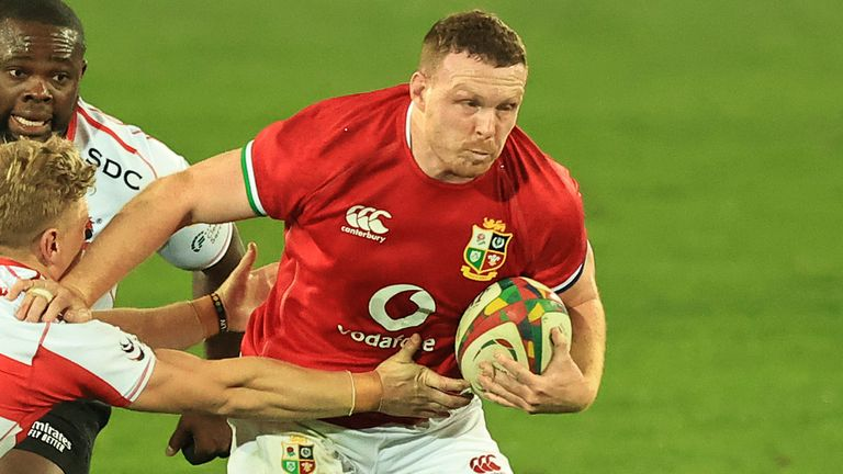 Sam Symonds, ignored by England's Eddie Jones, started for the Lions in the No. 8 game against the Sharks on Wednesday