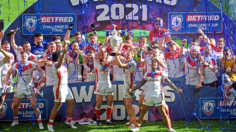 St Helens won the Challenge Cup last weekend but their fixture this week may be in doubt