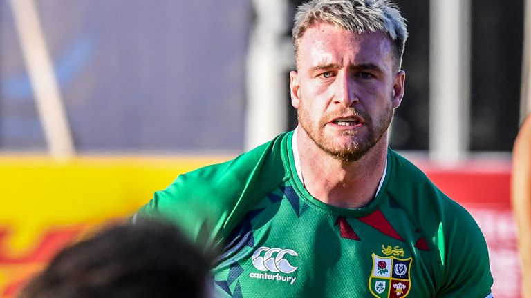 Stuart Hogg will captain the British and Irish Lions in their opening tour match