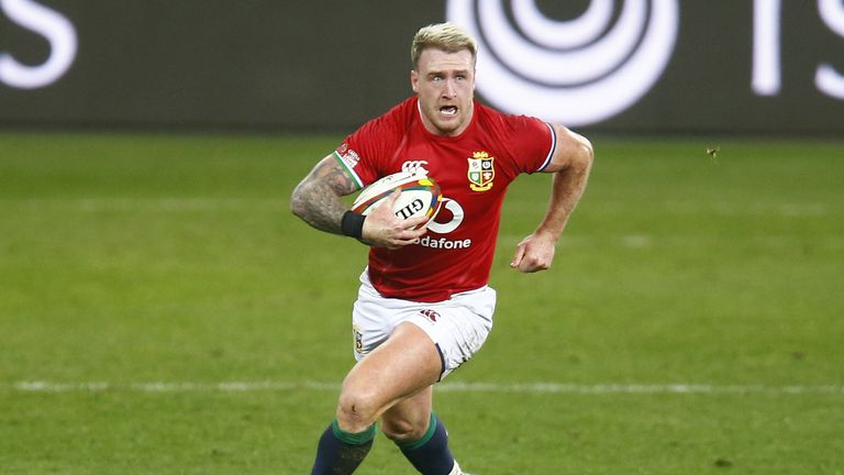 Stuart Hogg runs it back for the Lions