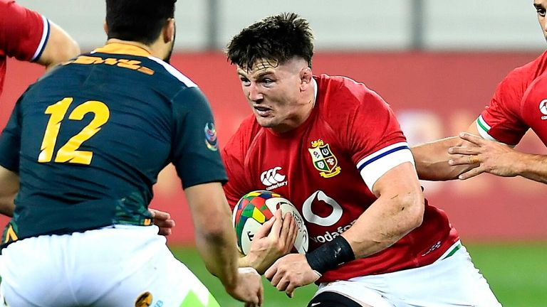 Tom Curry takes the ball into contact against South Africa 'A'