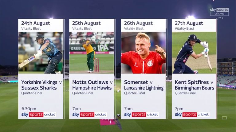 The Vitality Blast quarter-finals - coming your way in August!
