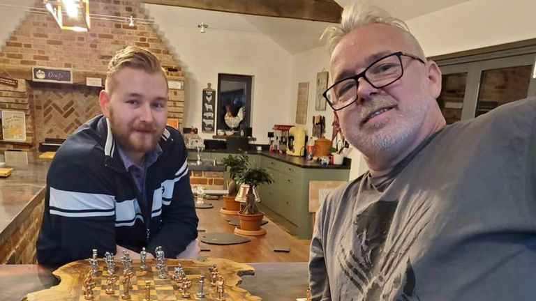 Dimitri Van den Bergh stayed with Peter Wright and his family during the first lockdown in early 2020