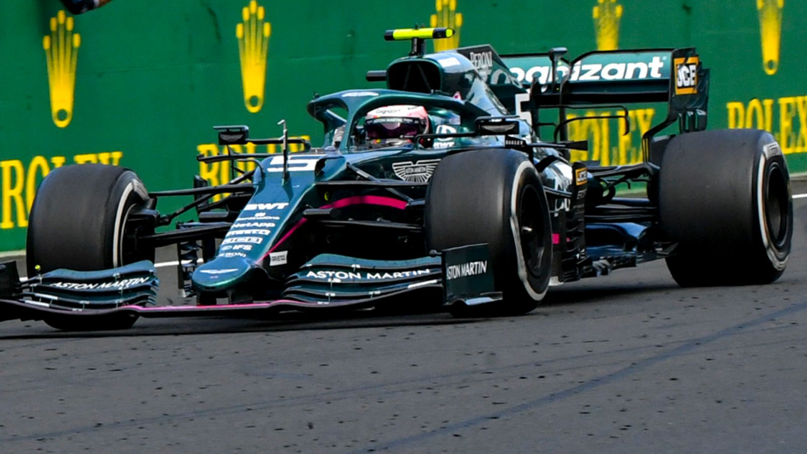Sebastian Vettel's appeal against the Hungarian Grand Prix fuel disqualification has been withdrawn by Aston Martin.