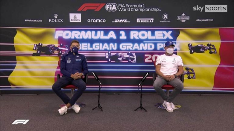 Neither Valtteri Bottas or George Russell were giving much away when asked about which team they would be driving for in the 2022 Formula One season