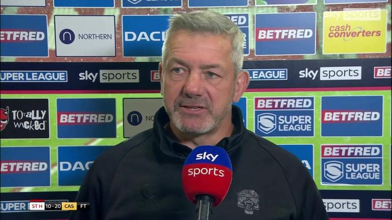 Castleford Tigers coach Daryl Powell was delighted with his players after they beat St Helens at the Totally Wicked Stadium