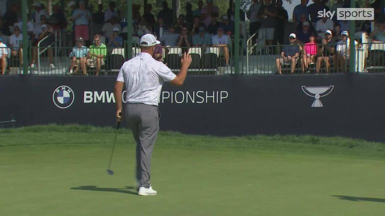 A look back at the best of the action from the opening round of the PGA Tour's BMW Championship at Caves Valley Golf Club near Baltimore, Maryland.