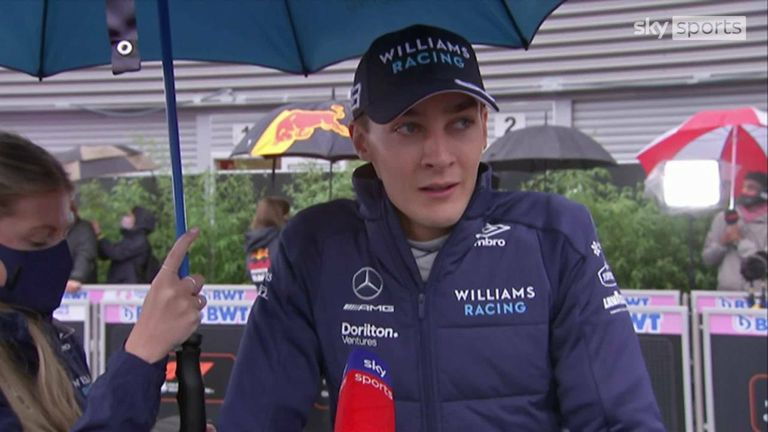 George Russell, who was the star of the show on Saturday for Williams, picked up his first F1 podium in bizarre circumstances