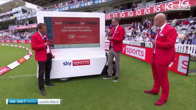Mark Chapman and Andrew Strauss have an emotional discussion about losing their wives to cancer, with The Ruth Strauss Foundation having been set up to raise funds to support families facing grief.