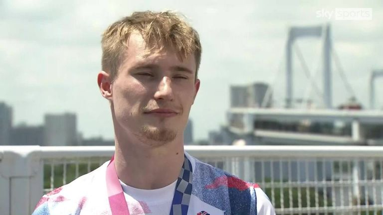 Jack Laugher says overcoming his own personal difficulties to win a diving bronze medal means more than anything to him and is even better than winning gold at the Rio Games in 2016