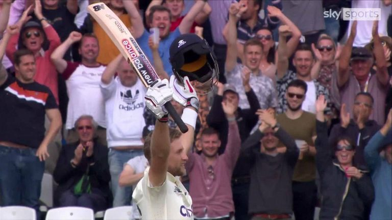 Watch some of the best shots from Root's sparkling century at Trent Bridge, his 21st in Tests and fourth of 2021