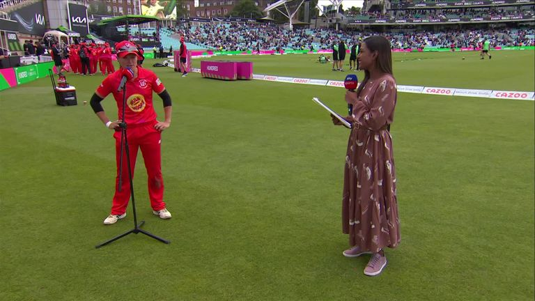 Welsh Fire captain Sophie Luff was full of praise for Katie George and Sarah Taylor after the Fire beat the Oval Invincibles