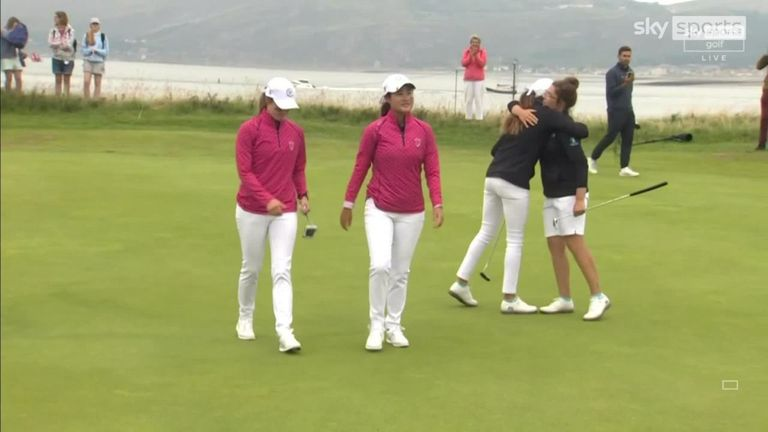 A look back at the best of the action from the opening morning of the 2021 Curtis Cup, where Team GB&Ire made an encouraging start against Team USA
