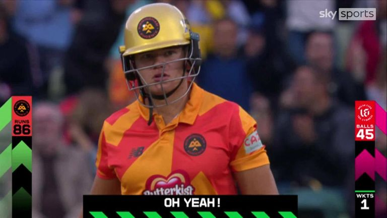Watch this huge six from Birmingham Phoenix's Will Smeed.