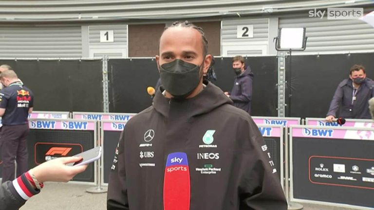 Lewis Hamilton credits his Mercedes team for helping him overtake Red Bull's Max Verstappen in the driver standings.