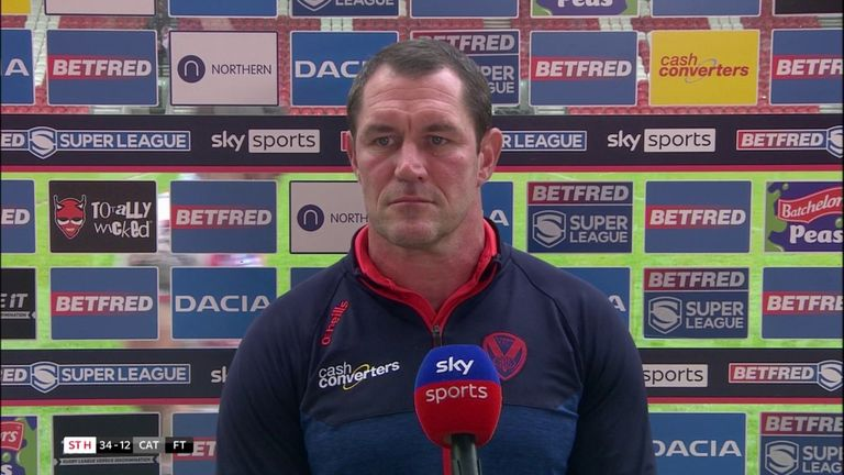 St Helens coach Kristian Woolf told Sky Sports that Lachlan Coote will be missed when he leaves the club after Coote played a big part in Saints' win over Catalans Dragons