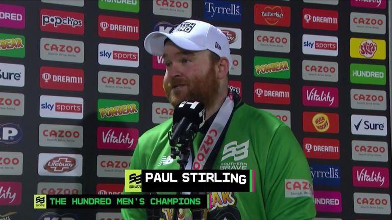 Paul Stirling fue nombrado Héroe del Partido por sus 61 de 36 balones en la final