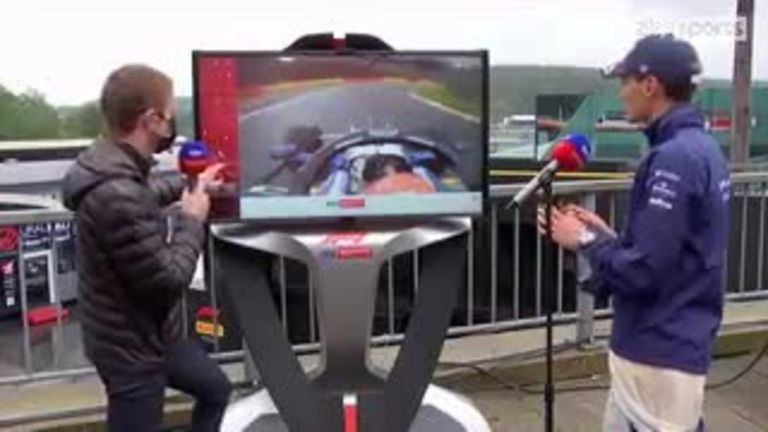 George Russell joins Sky F1's Paul di Resta at the SkyPad after qualifying a stunning second for the Belgian Grand Prix.