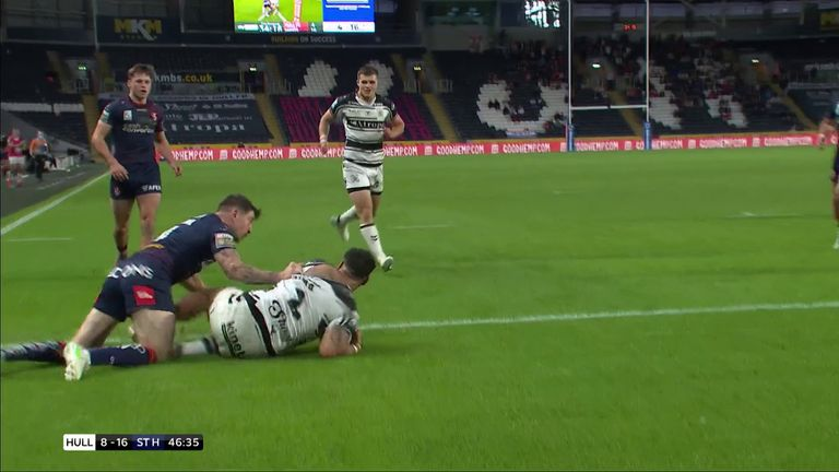 Watch Bureta Faraimo's try for Hull FC against St Helens recently