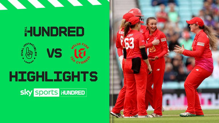A superb performance from Sarah Taylor and a stunning catch from Katie George saw the Welsh Fire beat the Oval Invincibles.