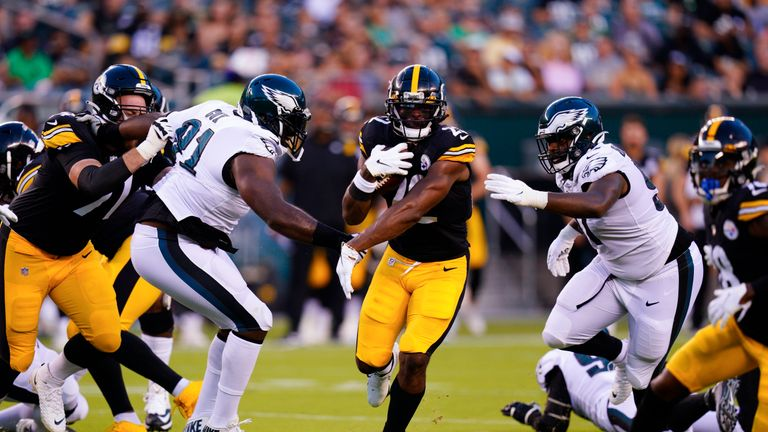 Mike Wright of The Fantasy Footballers podcast explains why he is backing Pittsburgh Steelers running back Najee Harris as one of his top rookie options in Fantasy this year.