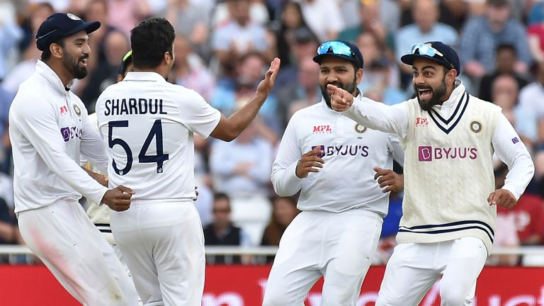 India bowled England out for 183 on day one of the first Test