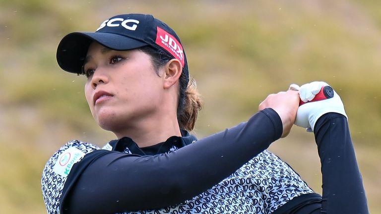 Ariya Jutanugarn holds the halfway lead at the Women's Scottish Open, an event she won in 2018