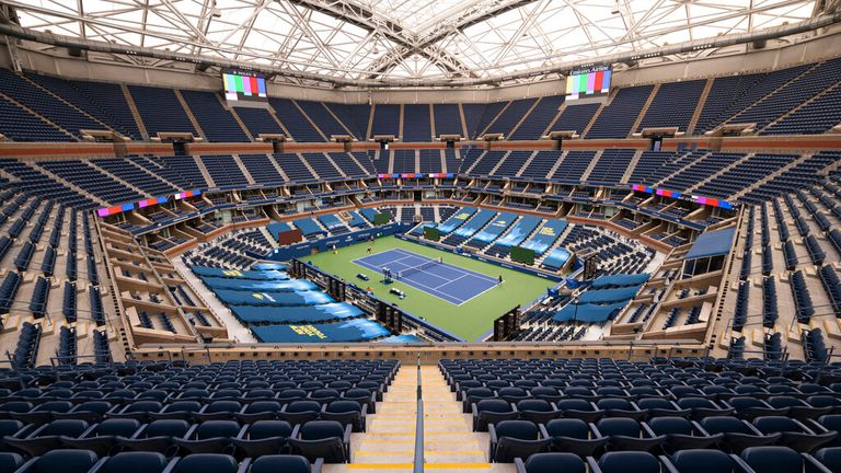 Arthur Ashe Stadium will be back at full capacity for this year's US Open (Mike Lawrence/USTA via AP)