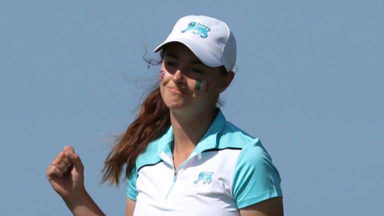 Caley McGinty was the only GB&I player to win her singles