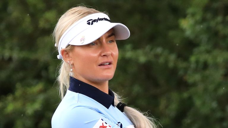 Charley Hull holds a share of the lead after the opening round of the Aramco Team Series Sotogrande