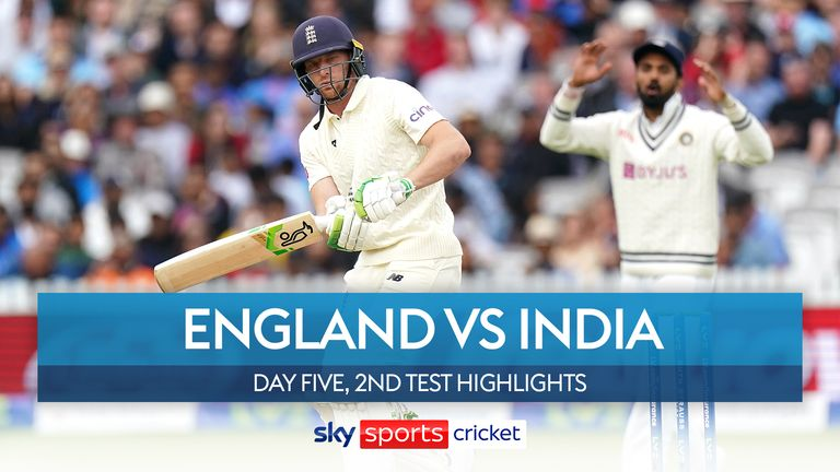 Highlights from the fifth day of the second Test between England and India at Lord's